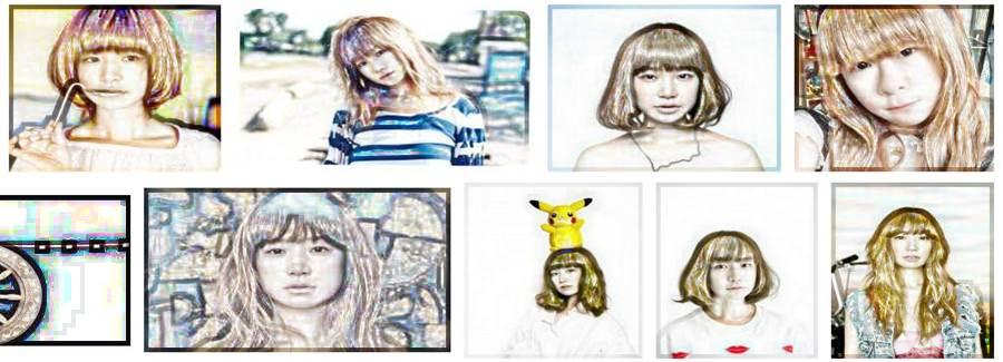 いつまでも老けない若々しい綺麗な芸能人「YUKI」の似顔絵
