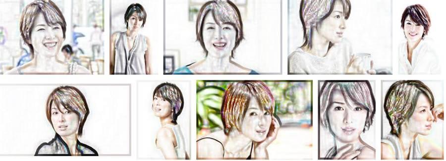 いつまでも老けない若々しい綺麗な芸能人「吉瀬 美智子」の似顔絵