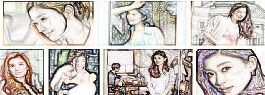 いつまでも老けない若々しい綺麗な芸能人「篠原涼子」の似顔絵